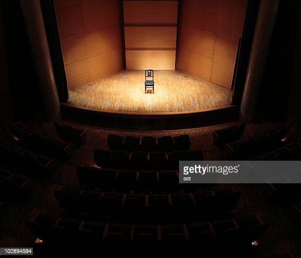 A chair on stage