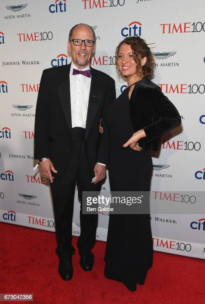 Chair Tom Perez and Ann Marie Staudenmaier attend the 2017 Time 100 Gala at Jazz at Lincoln Center on April 25 2017 in New York City