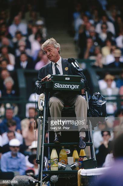 Chair Umpire Jeremy Shales during the Wimbledon Lawn Tennis Championships held on July 5 1997 at the All England Lawn Tennis and Croquet Club in...