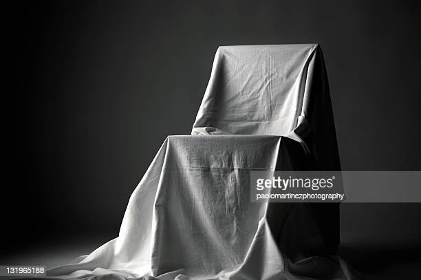 Chair with white cloth