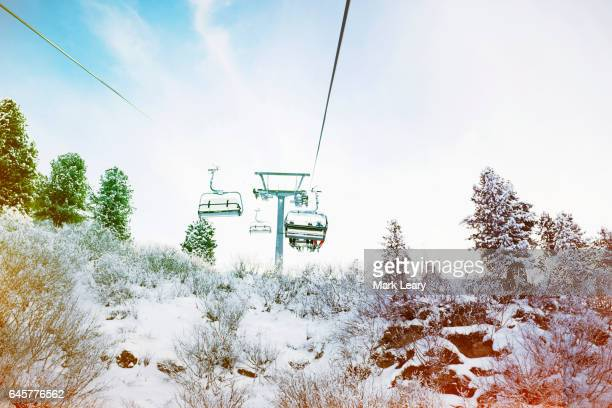 A chairlift in Mayrhofen, Austria