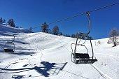 ski lift at a ski resort in the Italian Alps