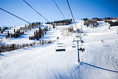 A chairlift in a Colorado ski resort.