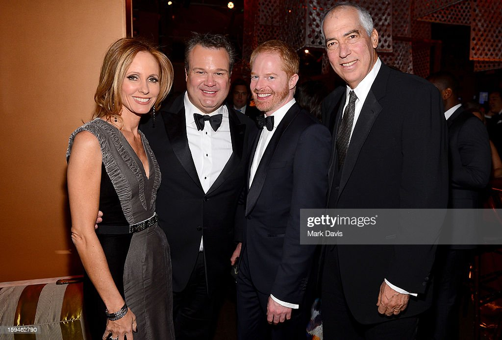 Chairman, 20th Century Fox Television Dana Walden, actors Eric Stonestreet, Jesse Tyler Ferguson, and Chairman of 20th Century Fox Television Gary Newman attend the FOX After Party for the 70th Annual Golden Globe Awards held at The FOX Pavillion at The Beverly Hilton Hotel on January 13, 2013 in Beverly Hills, California.