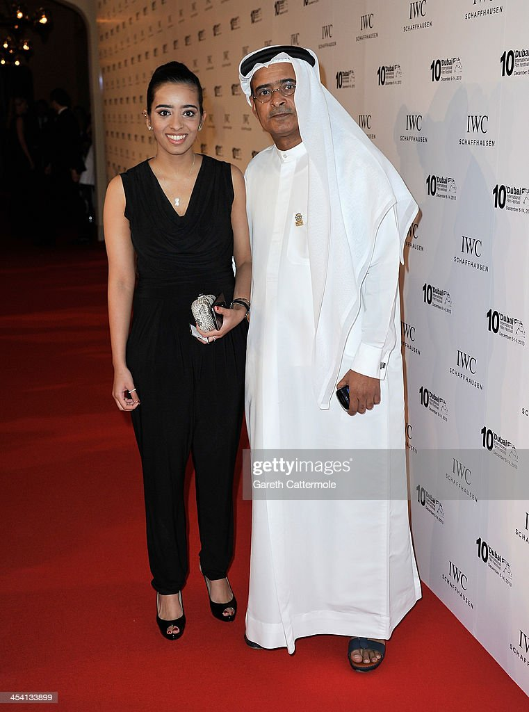 Chairman Abdulhamid Juma (R) attends 'For The Love of Cinema - IWC Filmmakers Award' during day two of the 10th Annual Dubai International Film Festival held at the One and Only Mirage Hotel on December 7, 2013 in Dubai, United Arab Emirates.