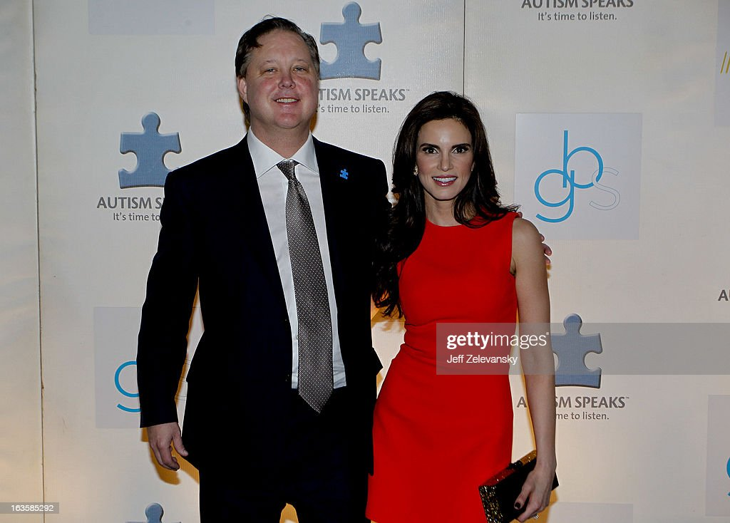 Chairman and CEO Brian France and wife Amy arrive at 'Speeding For A Cure', a gala to benefit Autism Speaks held at the Metropolitan Museum of Art on March 12, 2013 in New York City.
