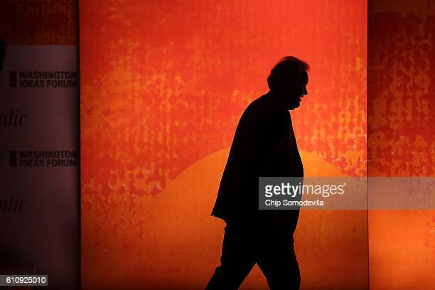 Chairman and CEO Jeff Immelt walks off stage after being interviewed during the Washington Ideas Forum at the Harmon Center for the Arts September 28...