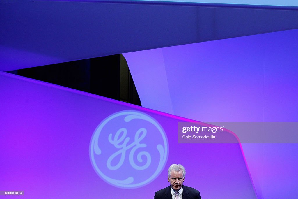 GE Chairman and CEO <a gi-track='captionPersonalityLinkClicked' href=/galleries/search?phrase=Jeffrey+Immelt&family=editorial&specificpeople=605437 ng-click='$event.stopPropagation()'>Jeffrey Immelt</a> delivers opening remarks during the global conglomerate's four-day event 'American Competitiveness: What Works,' at the Andrew Mellon Auditorium February 13, 2012 in Washington, DC. As part of its 'Hire Our Heroes' program, General Electric Co. says it will hire 5,000 veterans over the next five years and invest $580 million to expand its aviation business.