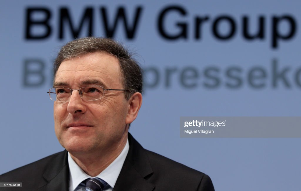 Chairman and CEO Norbert Reithofer looks on during the annual news conference at BMW World on March 17 2010 in Munich Germany BMW Group sold 128...
