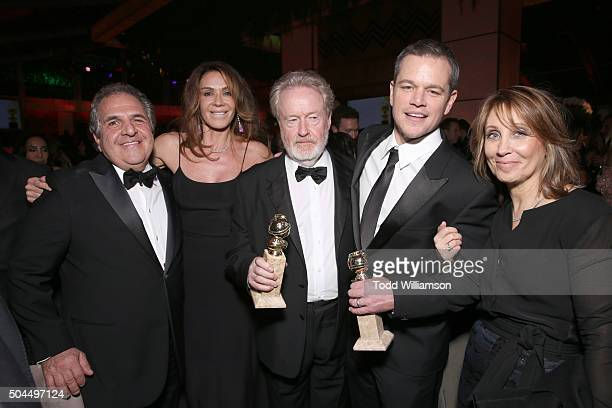 Chairman and CEO of 20th Century Fox Jim Gianopulos actress Giannina Facio producer/director Ridley Scott cowinner of the Best Motion Picture Musical...