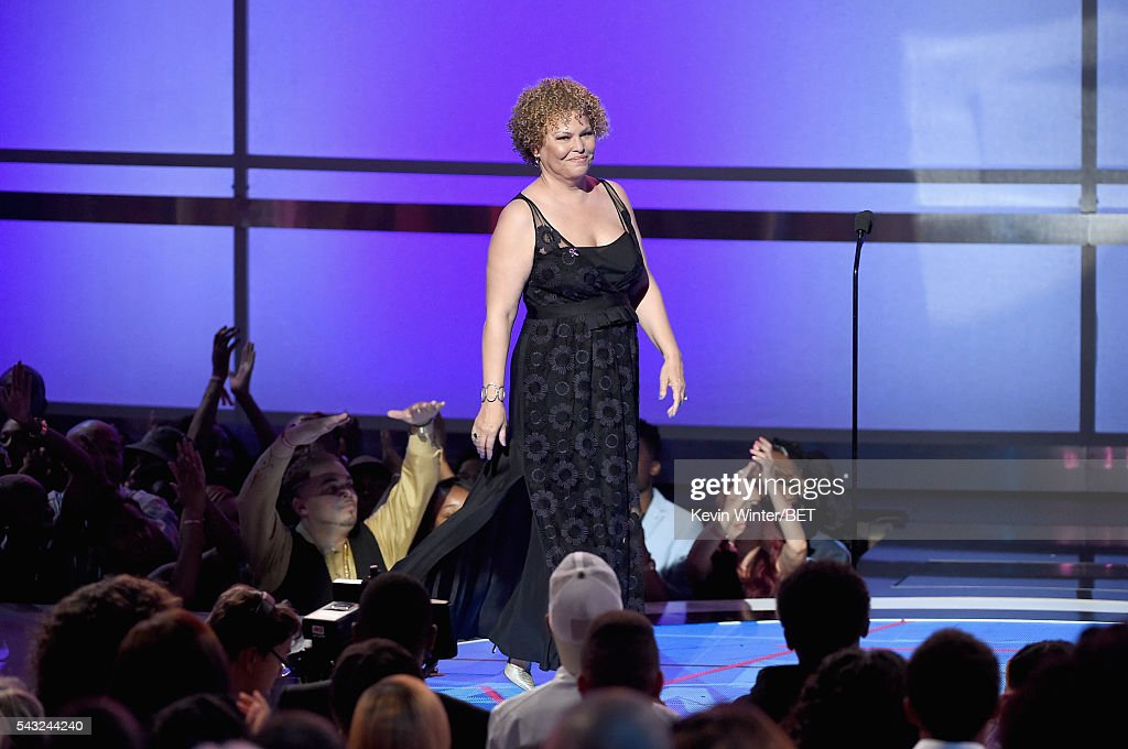 Chairman and CEO of BET Networks <a gi-track='captionPersonalityLinkClicked' href=/galleries/search?phrase=Debra+L.+Lee&family=editorial&specificpeople=555541 ng-click='$event.stopPropagation()'>Debra L. Lee</a> speaks onstage during the 2016 BET Awards at the Microsoft Theater on June 26, 2016 in Los Angeles, California.