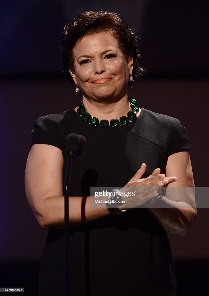 Chairman and CEO of BET Networks Debra Lee speaks onstage during the 2012 BET Awards at The Shrine Auditorium on July 1, 2012 in Los Angeles, California.