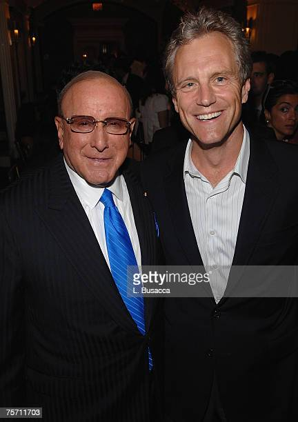 Chairman and CEO of BMG Label Group Clive Davis and Garry Kief attend luncheon honoring Clive Davis with UJA of New York's Music Visionary Award at...