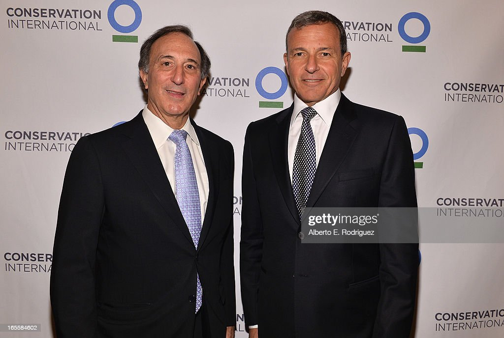 Chairman and CEO of Conservation International Peter Seligmann and Chairman and CEO of the Walt Disney Company <a gi-track='captionPersonalityLinkClicked' href=/galleries/search?phrase=Bob+Iger&family=editorial&specificpeople=171211 ng-click='$event.stopPropagation()'>Bob Iger</a> attend Conservation International's 17th Annual Los Angeles Dinner at Montage Beverly Hills on April 4, 2013 in Beverly Hills, California.