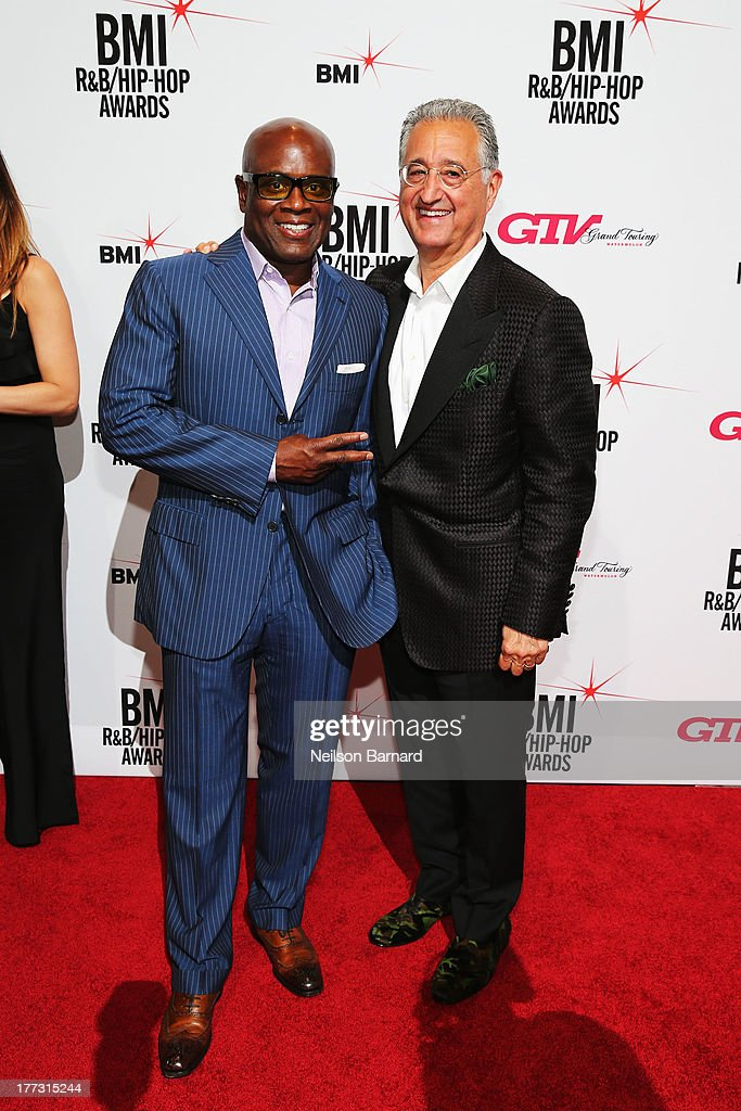 Chairman and CEO of Epic Records L.A. Reid and BMI President and CEO, Del Bryant attend 2013 BMI R&B/Hip-Hop Awards at Hammerstein Ballroom on August 22, 2013 in New York City.