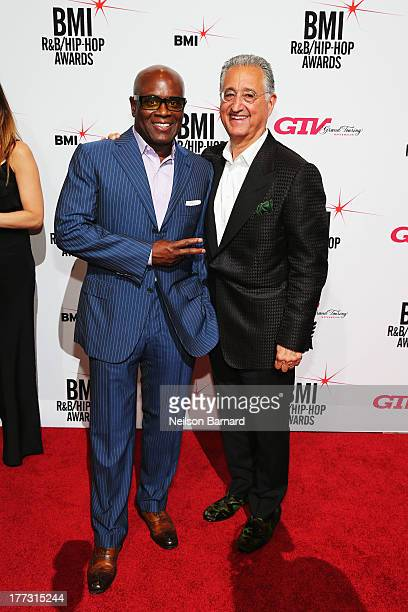 Chairman and CEO of Epic Records LA Reid and BMI President and CEO Del Bryant attend 2013 BMI RB/HipHop Awards at Hammerstein Ballroom on August 22...
