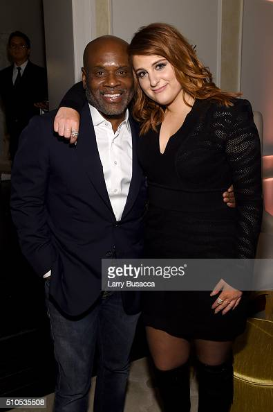 Chairman and CEO of Epic Records LA Reid and recording artist Meghan Trainor attend Sony Music Entertainment 2016 PostGrammy Reception at Hotel Bel...