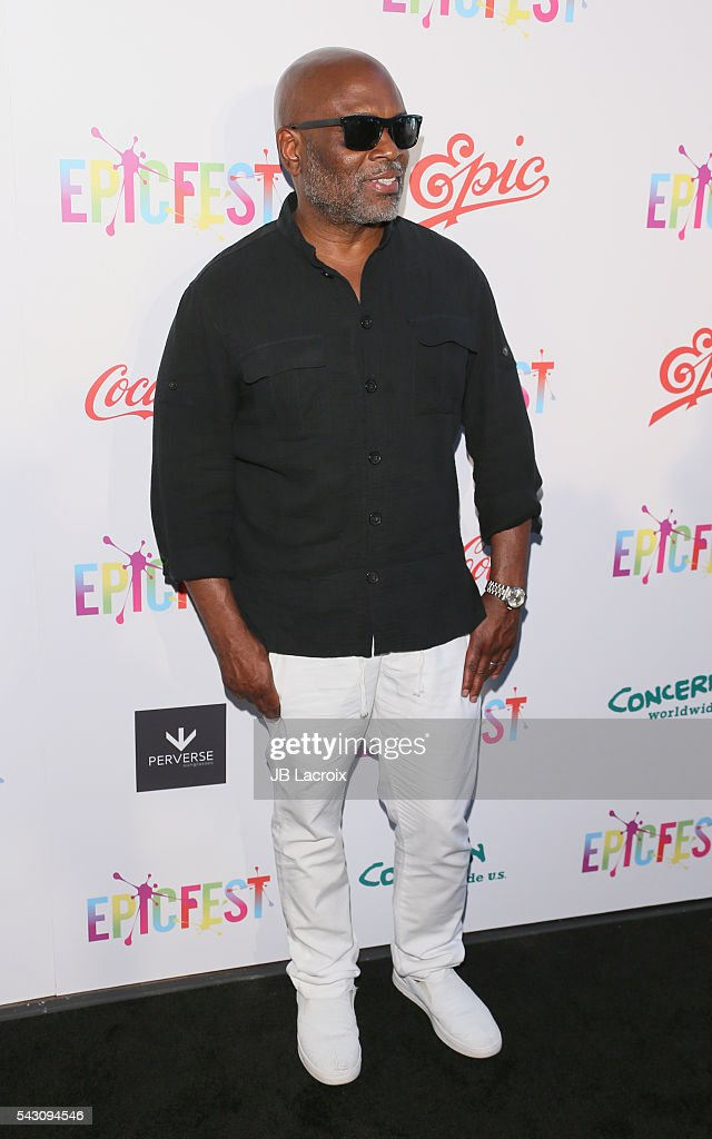 Chairman and CEO of Epic Records, <a gi-track='captionPersonalityLinkClicked' href=/galleries/search?phrase=L.A.+Reid&family=editorial&specificpeople=2546947 ng-click='$event.stopPropagation()'>L.A. Reid</a> attends EpicFest 2016 hosted by <a gi-track='captionPersonalityLinkClicked' href=/galleries/search?phrase=L.A.+Reid&family=editorial&specificpeople=2546947 ng-click='$event.stopPropagation()'>L.A. Reid</a> and Epic Records at Sony Studios on June 25, 2016 in Los Angeles, California.