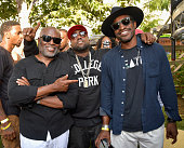 Chairman and CEO of Epic Records LA Reid recording artists Big Boi and Andre 3000 attend EpicFest 2016 hosted by LA Reid and Epic Records at Sony...