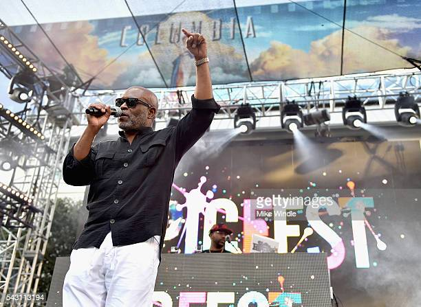 Chairman and CEO of Epic Records LA Reid speaks onstage during EpicFest 2016 hosted by LA Reid and Epic Records at Sony Studios on June 25 2016 in...