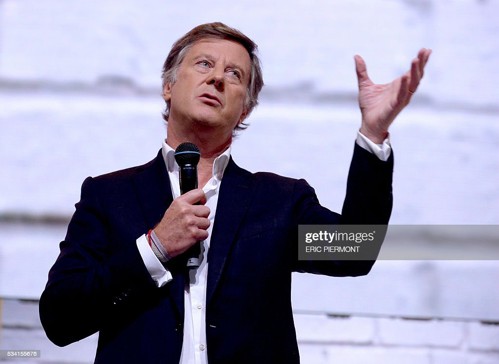 Chairman and CEO of French hotel operator AccorHotels Sebastien Bazin addresses France's Public Investment Bank Banque Publique d'Investissement (BPI Bpifrance) event 'Bpifrance Inno Generation' at the AccorHotels Arena in Paris on May 25, 2016. / AFP / ERIC