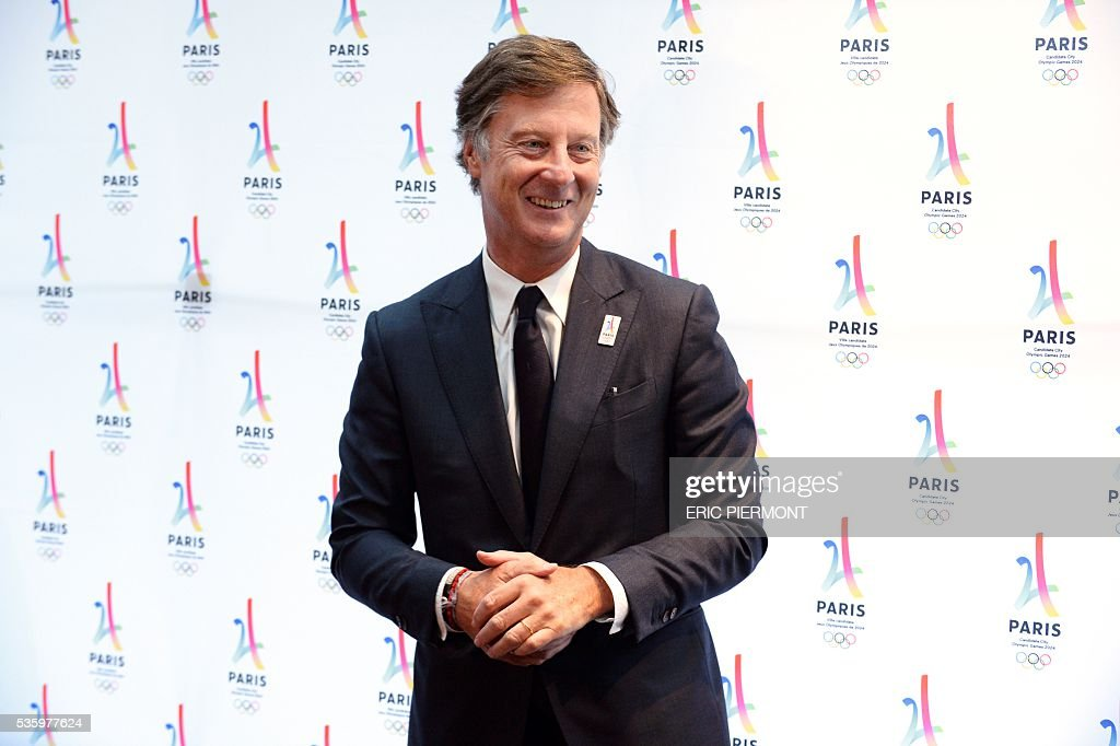 Chairman and CEO of French hotel operator AccorHotels Sebastien Bazin poses prior to a meeting gathering French companies and official partners of Paris candidate for the 2024 Summer Olympic games on May 30, 2016 in Paris. / AFP / ERIC