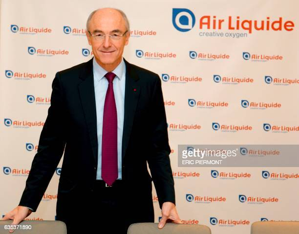 Chairman and CEO of French multinational industrial gas company Air Liquide Benoit Potier attends the presentation of the group's 2016 results at the...