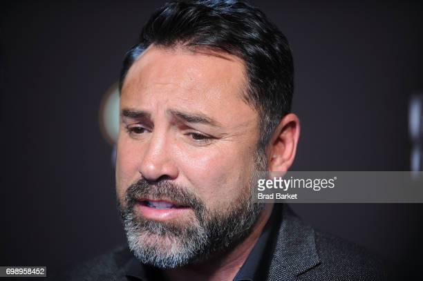 Chairman and CEO of Golden Boy Promotions Oscar De La Hoya attends the Canelo Alvarez and Gennady Golovkin Press Tour at The Theater at Madison...
