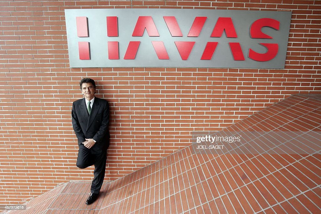 Chairman and CEO of Havas, the world's sixth largest communications group, Alain de Pouzilhac poses 17 May 2005 at Havas headquarters in Suresnes near Paris.