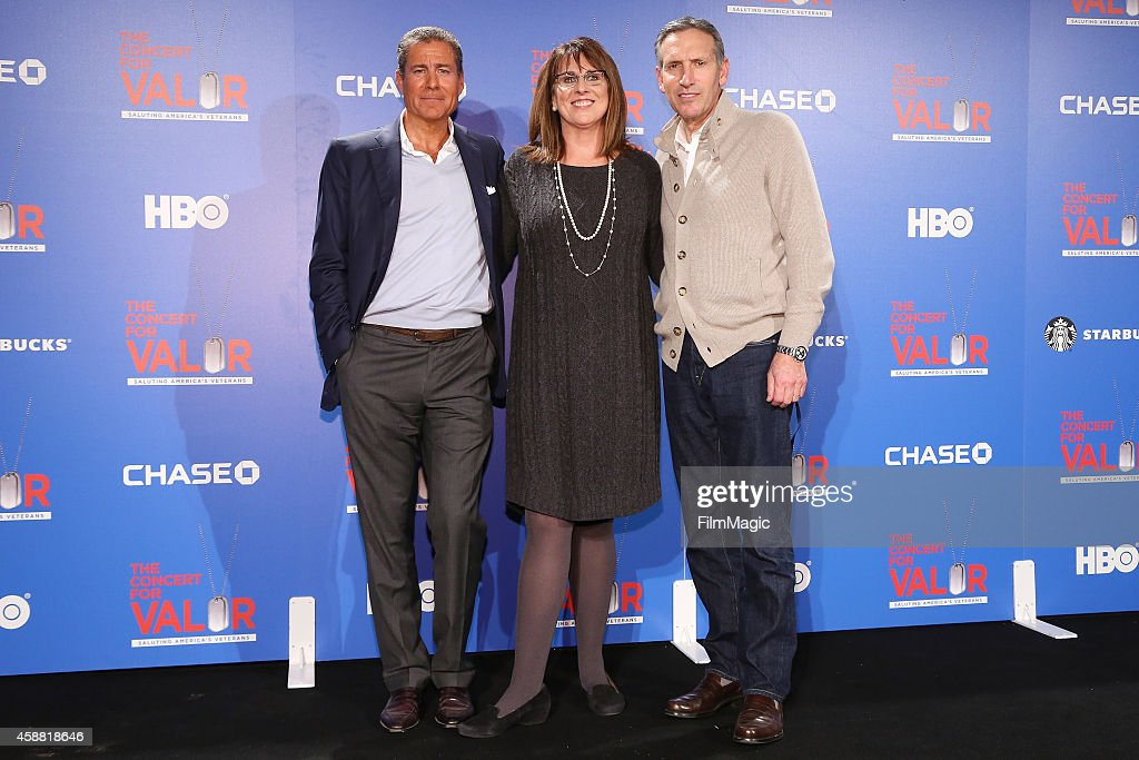 Chairman and CEO of HBO Richard Plepler Chase Director of Military and Veterans Affairs Maureen Casey and Chairman and CEO of Starbucks Howard...