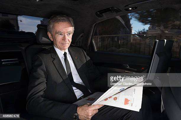 Chairman and CEO of LVMH Bernard Arnault is photographed for Le Figaro Magazine on October 1 2014 in Paris France PUBLISHED IMAGE CREDIT MUST READ...