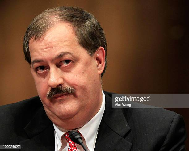 Chairman and CEO of Massey Energy Company Don Blankenship listens during a hearing before the Labor Health and Human Services Education and Related...