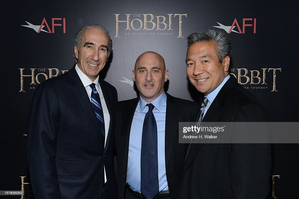 Chairman and CEO of MGM Gary Barber, President of Warner Bros. Pictures Group Jeff Robinov, and President of Warner Bros. Home Entertainment Group Kevin Tsujihara attend 'The Hobbit: An Unexpected Journey' New York premiere benefiting AFI at Ziegfeld Theater on December 6, 2012 in New York City.