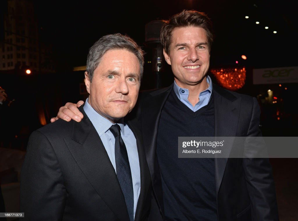 Chairman and CEO of Paramount Pictures <a gi-track='captionPersonalityLinkClicked' href=/galleries/search?phrase=Brad+Grey&family=editorial&specificpeople=220255 ng-click='$event.stopPropagation()'>Brad Grey</a> and actor <a gi-track='captionPersonalityLinkClicked' href=/galleries/search?phrase=Tom+Cruise&family=editorial&specificpeople=156405 ng-click='$event.stopPropagation()'>Tom Cruise</a> attend the after party for the premiere of Paramount Pictures' 'Star Trek Into Darkness' at AV Nightclub on May 14, 2013 in Hollywood, California.