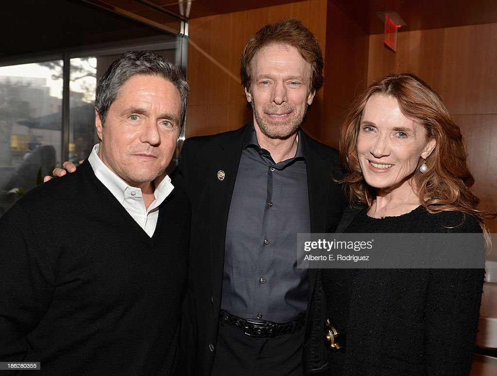 Chairman and CEO of Paramount Pictures Brad Grey producer Jerry Bruckheimer and Linda Bruckheimer attend the launch party for legendary producer...