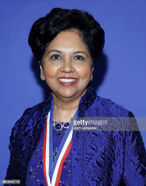 Chairman and CEO of PepsiCo Indra Nooyi attends 2017 Ellis Island Medals of Honor Ceremony at Ellis Island on May 13 2017 in New York City