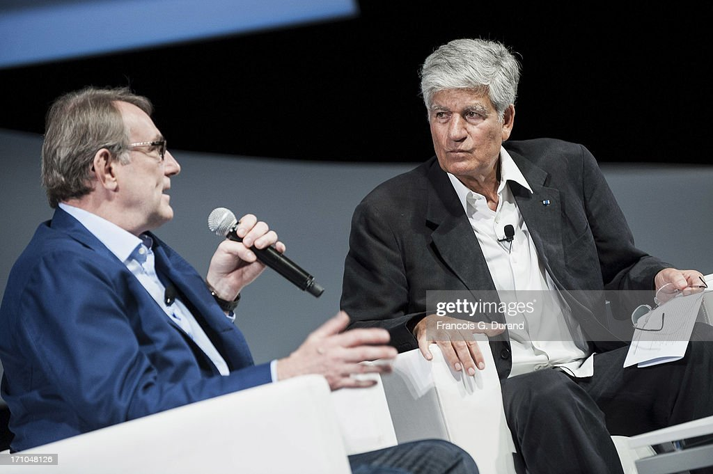 Chairman and CEO of Publicis Groupe, <a gi-track='captionPersonalityLinkClicked' href=/galleries/search?phrase=Maurice+Levy&family=editorial&specificpeople=588854 ng-click='$event.stopPropagation()'>Maurice Levy</a> (R) and CEO Heineken Jean-Francois Van Boxmeer attend the 'Publicis Groupe Seminar' during the Cannes Lions International Festival of Creativity on June 21, 2013 in Cannes, France.