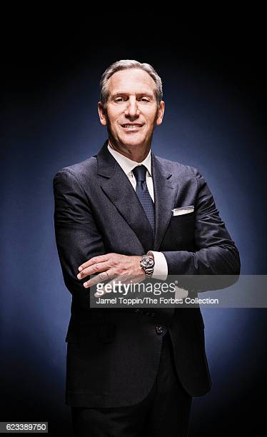 Chairman and CEO of Starbucks Howard Schultz is photographed for Forbes Magazine in February 2016 in Seattle Washington COVER IMAGE CREDIT MUST READ...