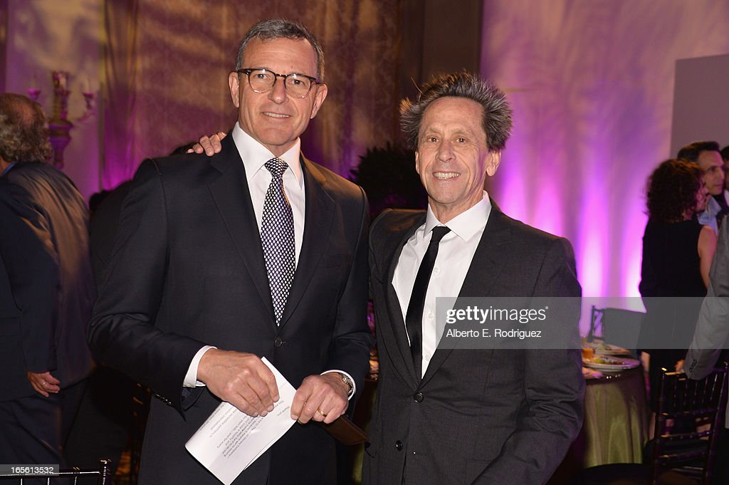 Chairman and CEO of The Walt Disney Company <a gi-track='captionPersonalityLinkClicked' href=/galleries/search?phrase=Bob+Iger&family=editorial&specificpeople=171211 ng-click='$event.stopPropagation()'>Bob Iger</a> and producer <a gi-track='captionPersonalityLinkClicked' href=/galleries/search?phrase=Brian+Grazer&family=editorial&specificpeople=203009 ng-click='$event.stopPropagation()'>Brian Grazer</a> attend Conservation International's 17th Annual Los Angeles Dinner at Montage Beverly Hills on April 4, 2013 in Beverly Hills, California.