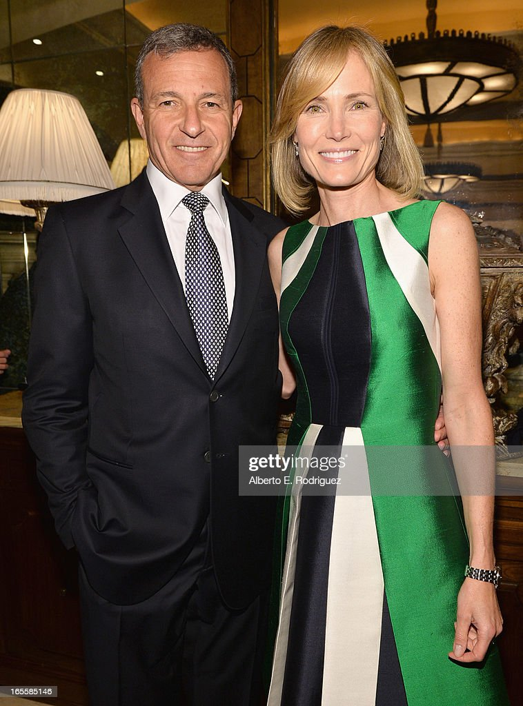 Chairman and CEO of The Walt Disney Company <a gi-track='captionPersonalityLinkClicked' href=/galleries/search?phrase=Bob+Iger&family=editorial&specificpeople=171211 ng-click='$event.stopPropagation()'>Bob Iger</a> and wife Senior Editor of The Huffington Post <a gi-track='captionPersonalityLinkClicked' href=/galleries/search?phrase=Willow+Bay&family=editorial&specificpeople=585760 ng-click='$event.stopPropagation()'>Willow Bay</a> attend Conservation International's 17th Annual Los Angeles Dinner at Montage Beverly Hills on April 4, 2013 in Beverly Hills, California.