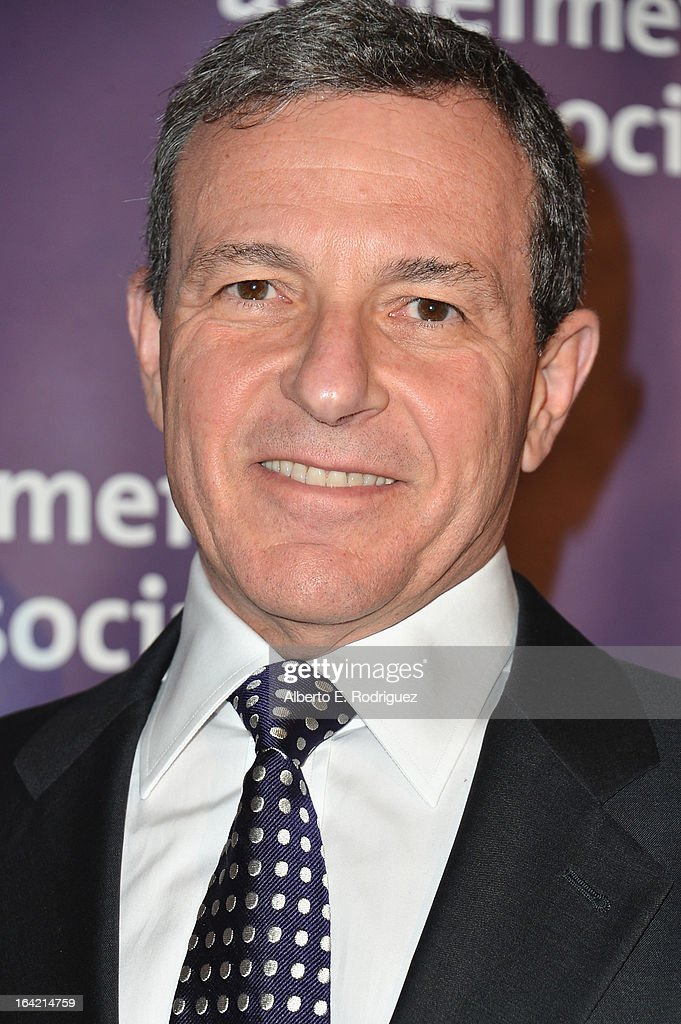 Chairman and CEO of the Walt Disney Company Bob Iger arrives of The Walt Disney Compan arrives at 21st Annual 'A Night At Sardi's' gala benefiting the Alzheimer's Association - Arrivals at The Beverly Hilton Hotel on March 20, 2013 in Beverly Hills, California.