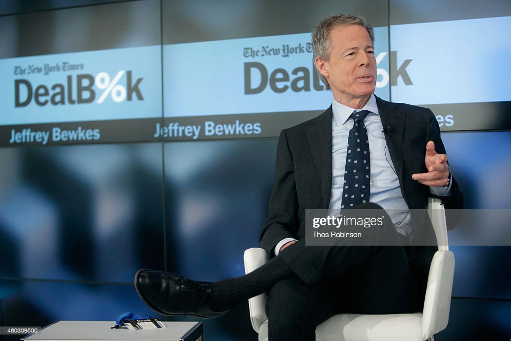 Chairman and CEO of Time Warner Inc. <a gi-track='captionPersonalityLinkClicked' href=/galleries/search?phrase=Jeff+Bewkes&family=editorial&specificpeople=584115 ng-click='$event.stopPropagation()'>Jeff Bewkes</a> speaks onstage during The New York Times DealBook Conference at One World Trade Center on December 11, 2014 in New York City.