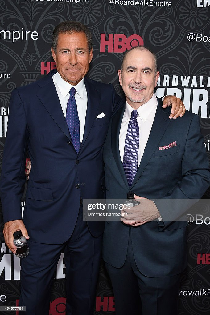 Chairman and CEO Richard Plepler and creator and executive producer of 'Boardwalk Empire' Terence Winter attend HBO's 'Boardwalk Empire' Season Five...