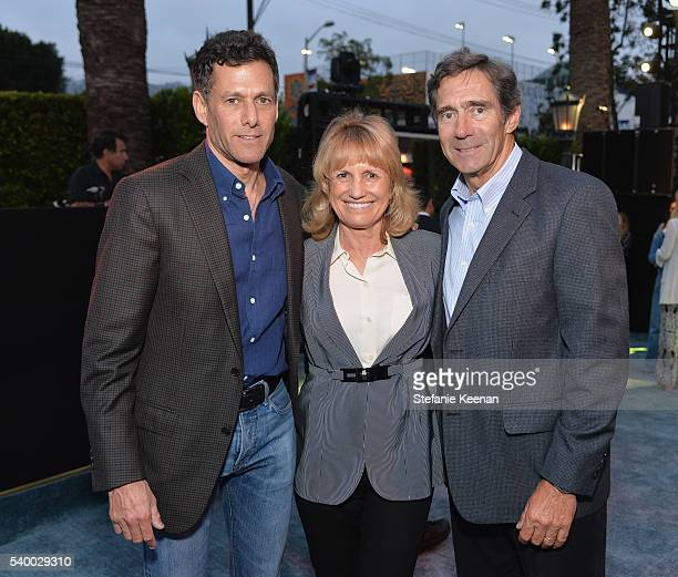 Chairman and CEO TakeTwo Interactive Software Strauss Zelnick Melanie Cook and Woody Woods attend TakeTwo's Annual E3 Kickoff Party at Cecconi's...