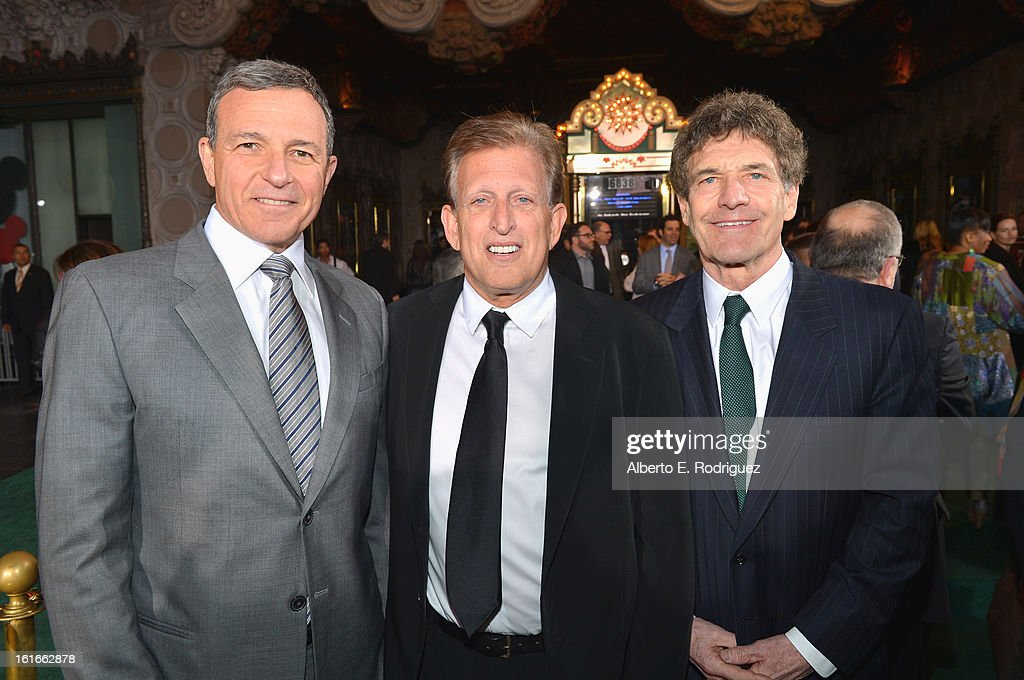 Chairman and CEO - The Walt Disney Company Bob Iger, Procucer Joe Roth and Chairman, The Walt Disney Studios, Alan Horn attend Walt Disney Pictures World Premiere of 'Oz The Great And Powerful' - Red Carpet at the El Capitan Theatre on February 13, 2013 in Hollywood, California.