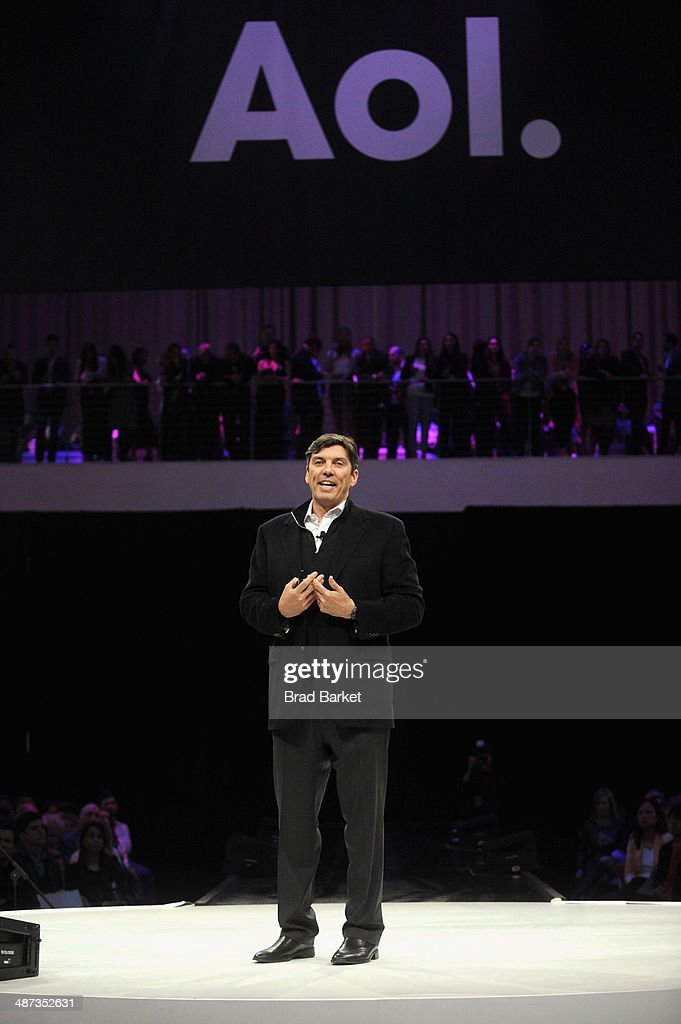 Chairman and CEO, Tim Armstrong speaks onstage at the 2014 AOL NewFronts at Duggal Greenhouse on April 29, 2014 in New York, New York.
