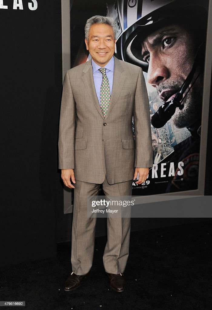Chairman and CEO, Warner Bros. Kevin Tsujihara arrives at the 'San Andreas' - Los Angeles Premiere at TCL Chinese Theatre IMAX on May 26, 2015 in Hollywood, California.