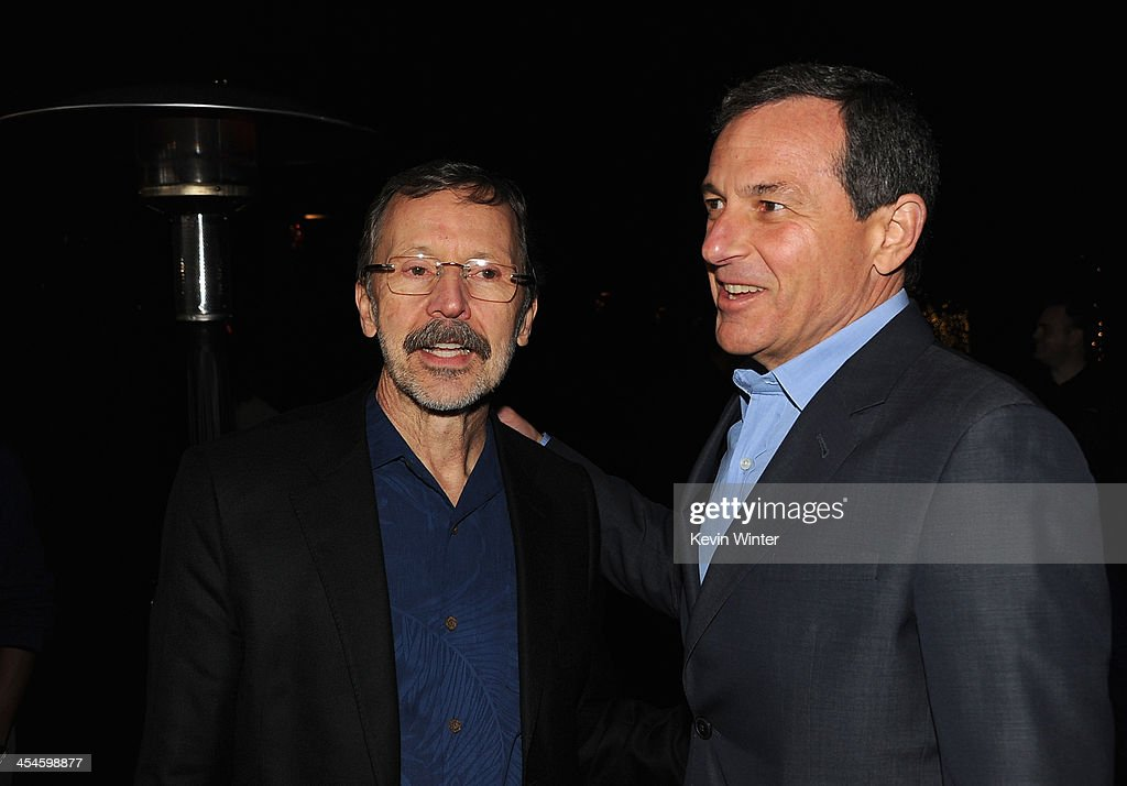 Chairman and Chief Executive of The Walt Disney Company Bob Iger (R) and Walt Disney Animation Studios and Pixar Animation Studios Ed Catmull attend the U.S. premiere of Disney's 'Saving Mr. Banks', the untold backstory of how the classic film 'Mary Poppins' made it to the screen, at the Walt Disney Studios on December 9, 2013 in Burbank, California. The film opens this Holiday season.