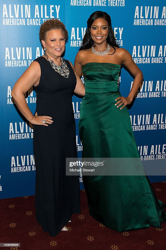 Chairman and Chief Executive Officer Debra Lee (L) and actress Gabrielle Union attend the 2013 Alvin Ailey American Dance Theater's opening night benefit gala at New York City Center on December 4, 2013 in New York City.