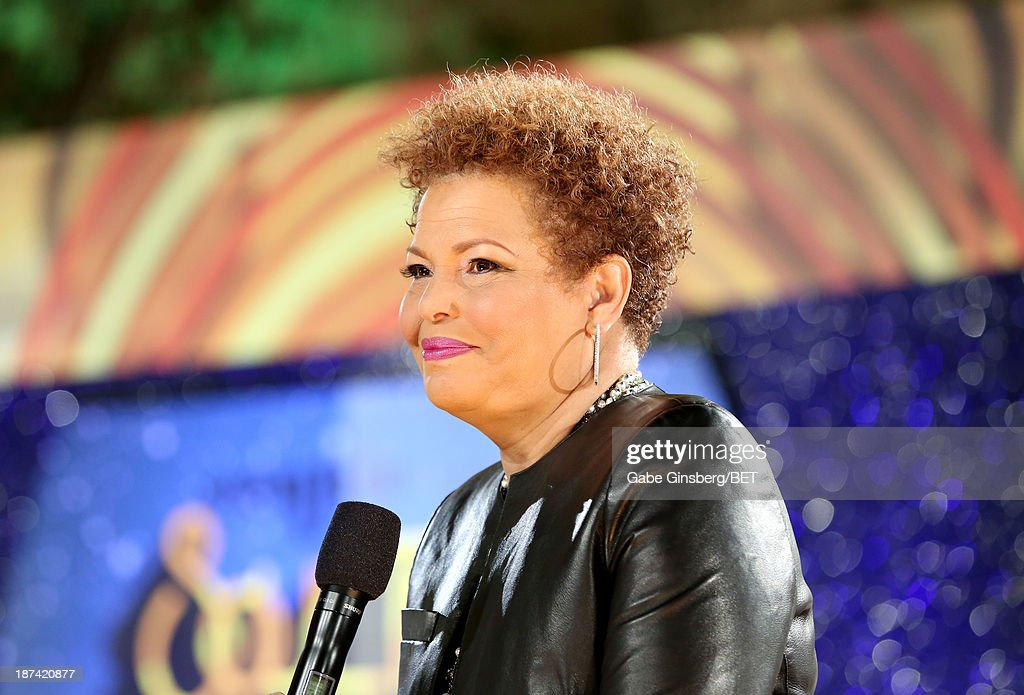 Chairman and Chief Executive Officer of BET <a gi-track='captionPersonalityLinkClicked' href=/galleries/search?phrase=Debra+L.+Lee&family=editorial&specificpeople=555541 ng-click='$event.stopPropagation()'>Debra L. Lee</a> attends the Soul Train Awards 2013 at the Orleans Arena on November 8, 2013 in Las Vegas, Nevada.